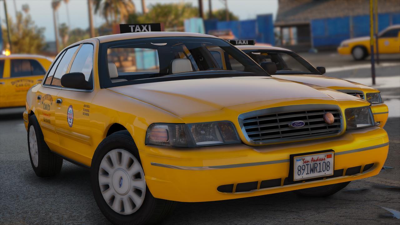 Los Santos Downtown Cab Co HQ Crown Victoria Taxi