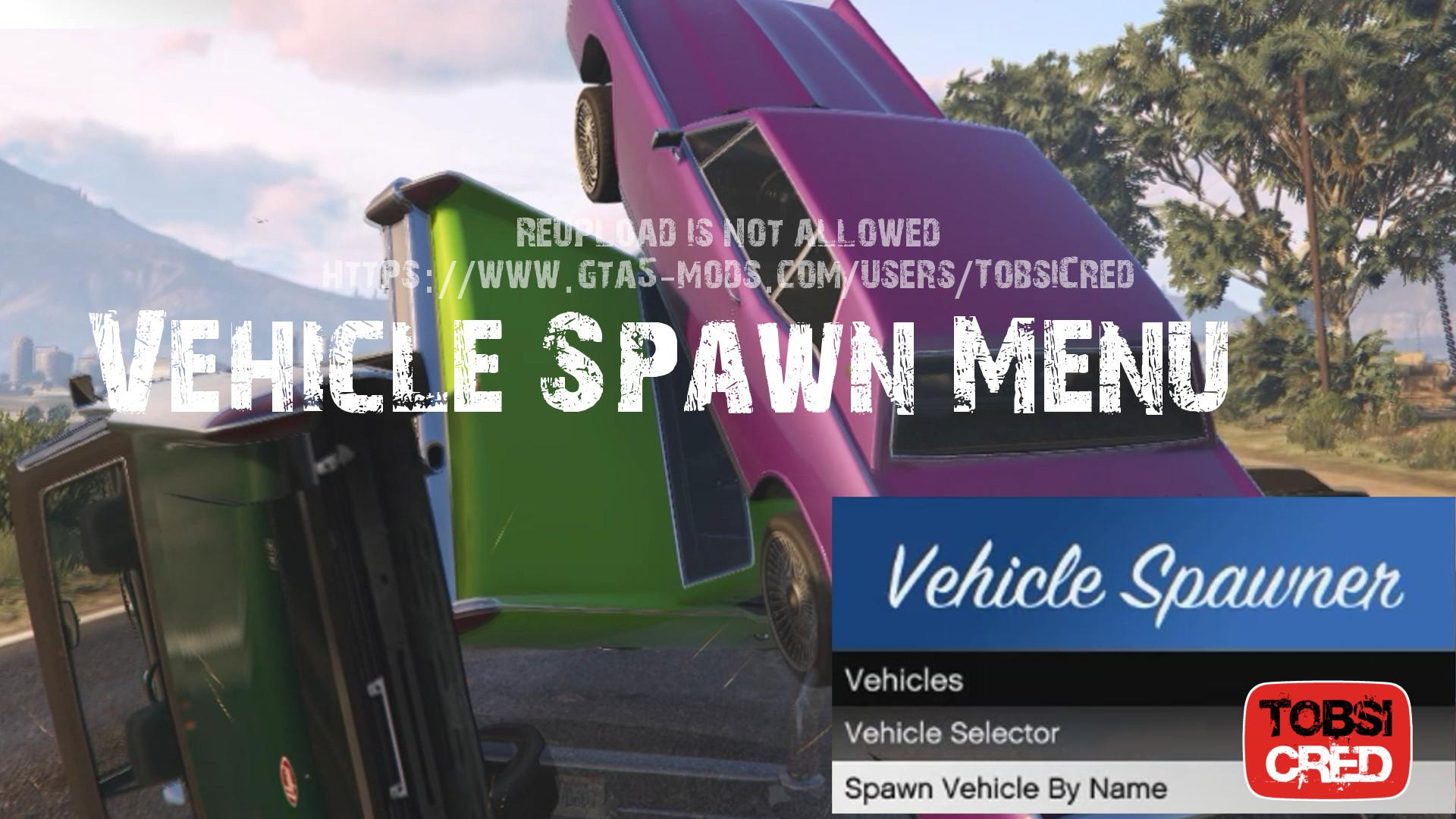 Vehicle Spawn Menu
