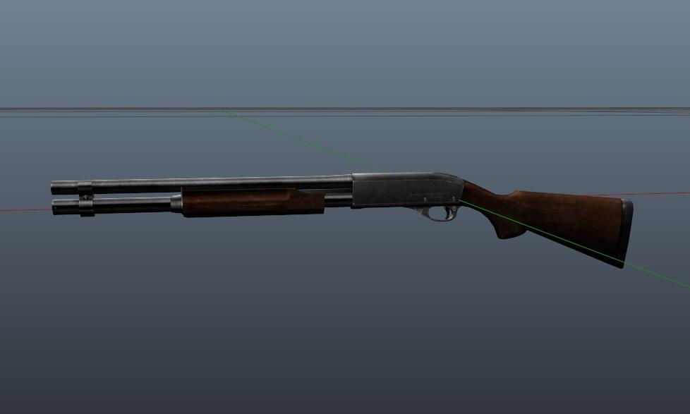 Weapon : [ Remington 870 DarkBrown-Chrome Retextured ] Animated