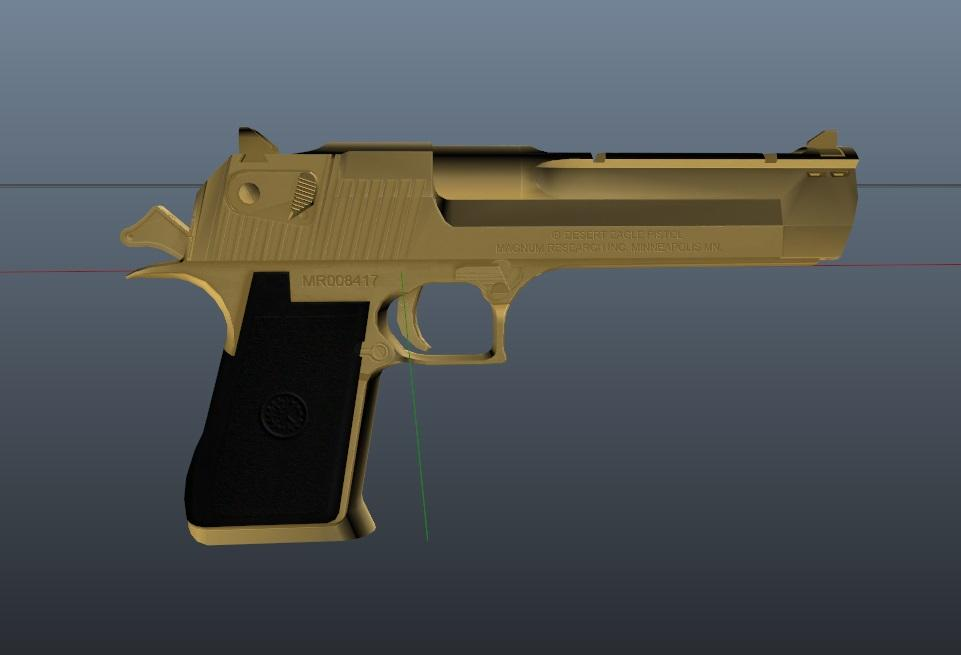 Weapon : [ Desert Eagle Golden Retextured ] Animated PURE GOLD !!!