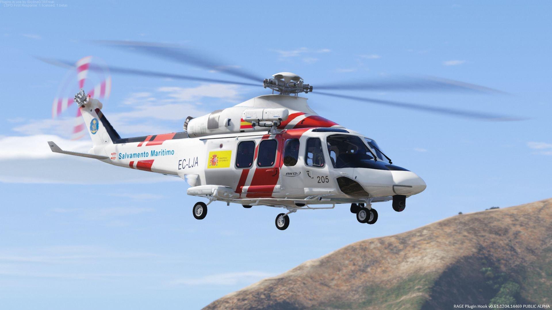 AugustaWestland AW139 (LAFD, WestPac, UK, Spain) [Add-On]