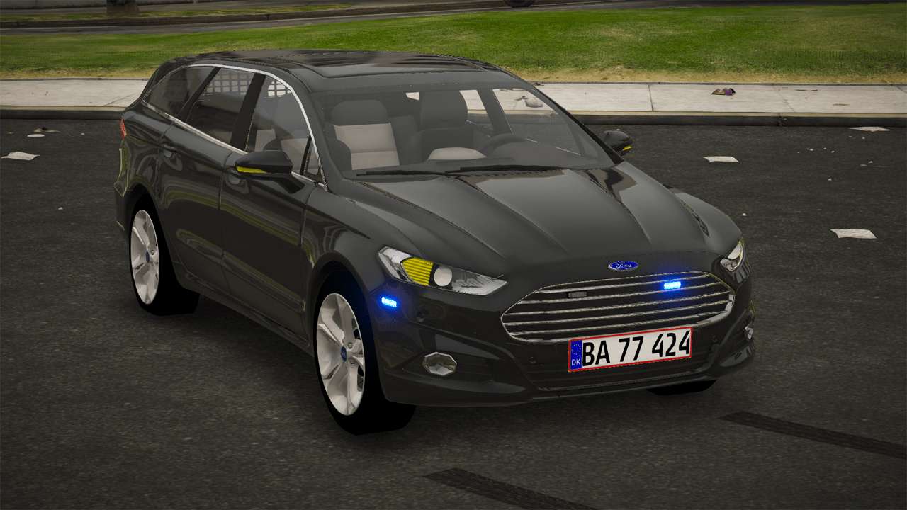 2016 Ford Mondeo MK5 Estate - Danish Police Unmarked [ELS/REPLACE]