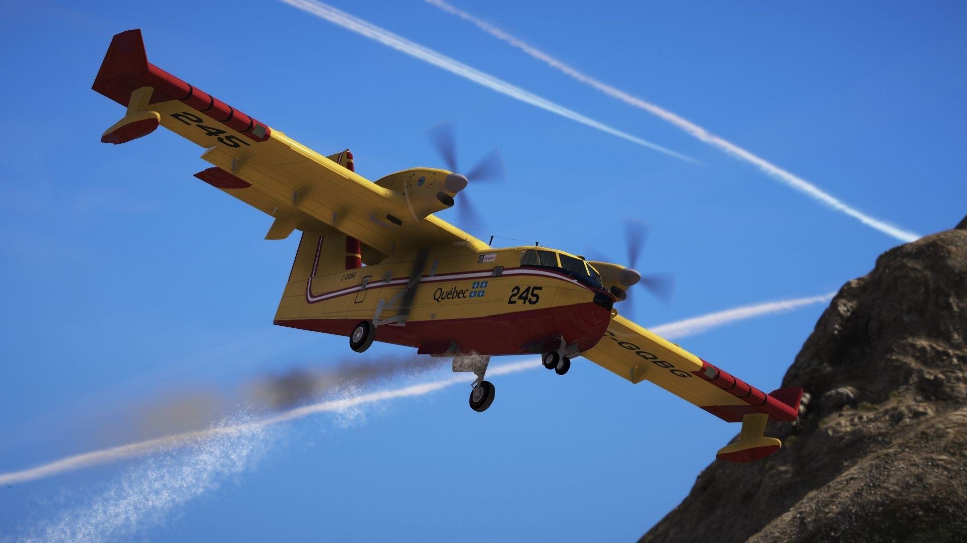 Обои амфибия, Bombardier, Самолёт, Вода. Авиация foto 16