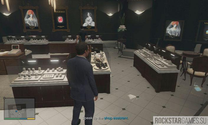 Разведка ювелирного - миссия GTA 5