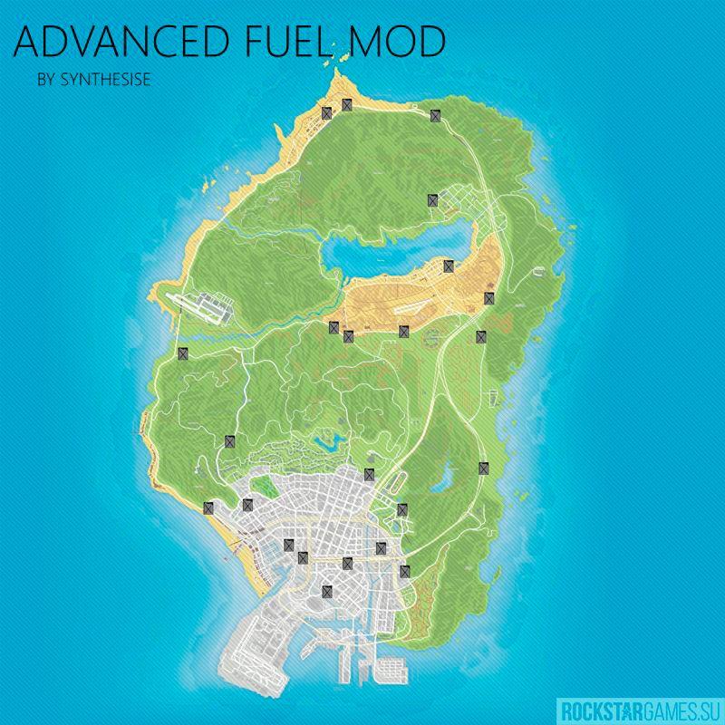 карта заправок — advanced fuel