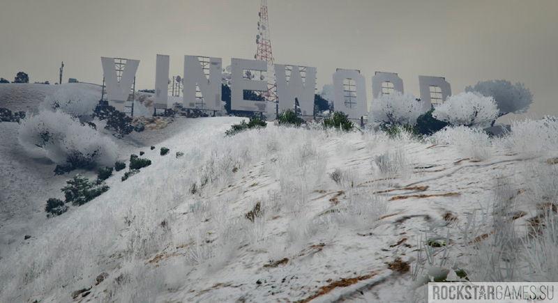 Singleplayer Snow мод зимы для ГТА 5