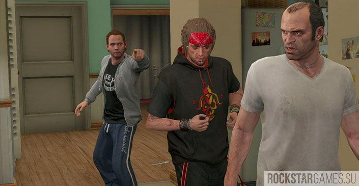 Воссоединение друзей - миссия GTA 5