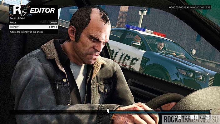 Глубина резкости видеоредакторе Rockstar
