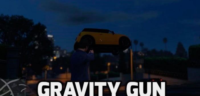 Gravity Gun мод для GTA 5
