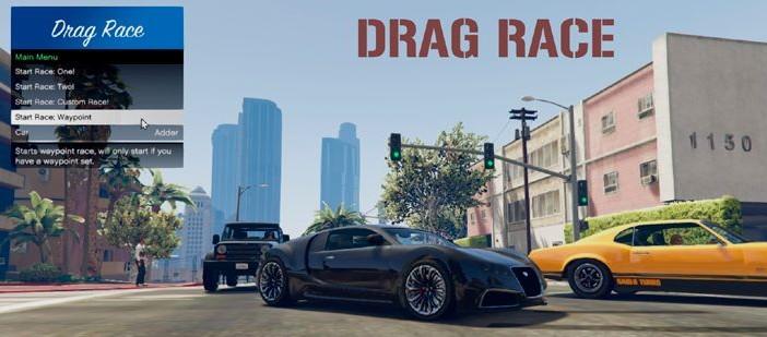Drag Race — мод драг-рейсинг для ГТА 5