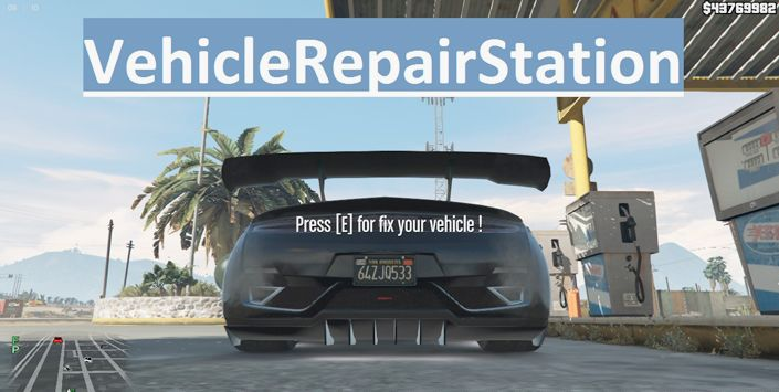 Vehicle Repair Station быстрое востановление машин