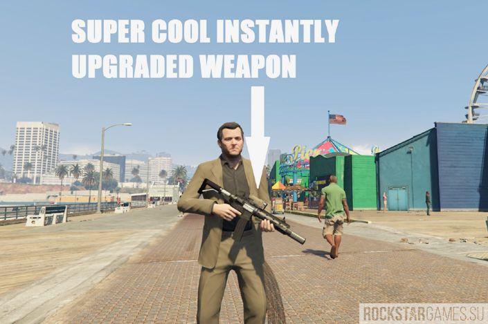 Weapon Attachment Trainer для GTA 5 после использования