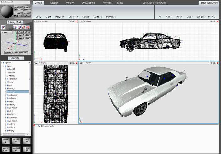программа 3D моделирования zmodeler3