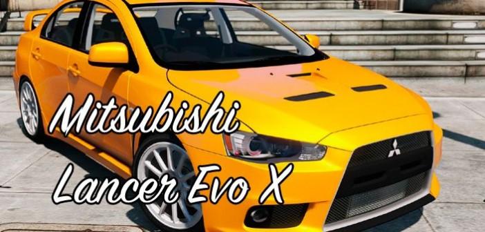 GTA 5 мод Mitsubishi Lancer Evo X для GTA 5