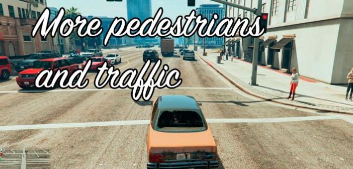 More pedestrians and traffic — больше трафика и пешеходов в ГТА 5