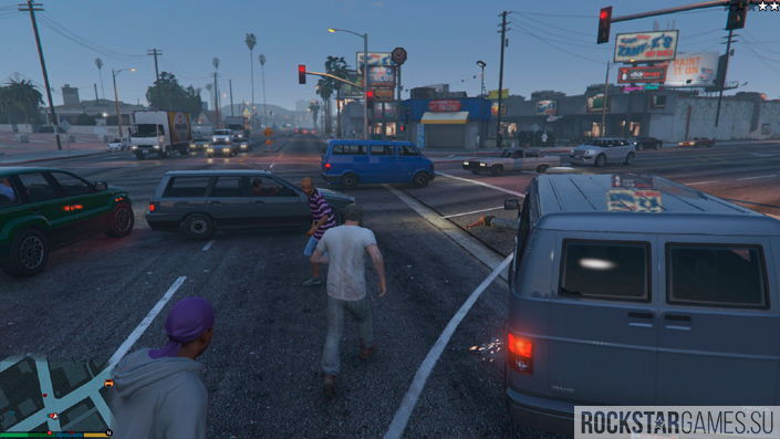 More pedestrians and traffic мод для GTA 5