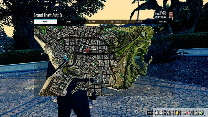 Satellite View Map — спутниковая карта для GTA 5