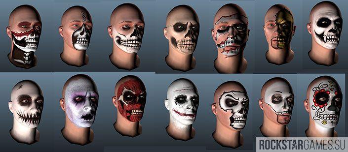 Новые рисунки для лица в обновлении GTA Online
