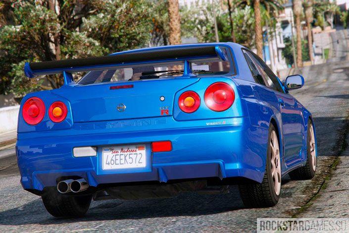 Мод Nissan Skyline GT-R для GTA 5