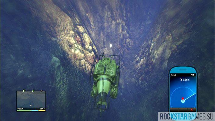 16 контейнер - глубина 351 фут