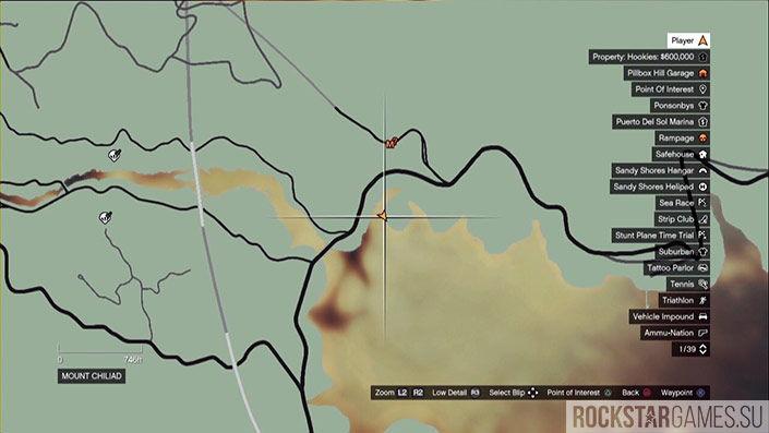 Месторасположение сорокового фрагмента письма на карте