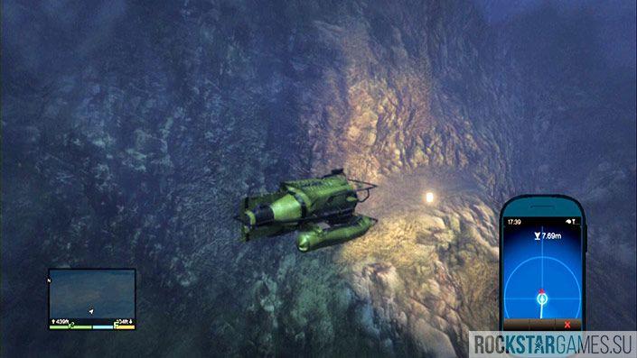 7 контейнер - глубина 462 фута