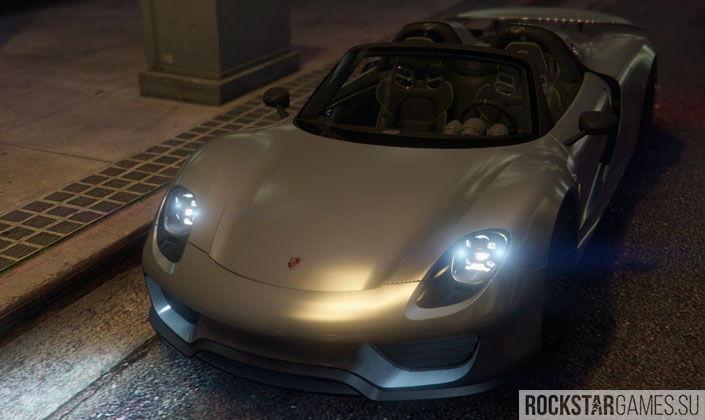 Мод Porsche 918 Spyder для GTA 5