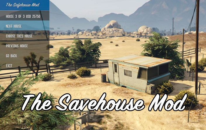 Мод The Savehouse Mod для ГТА 5