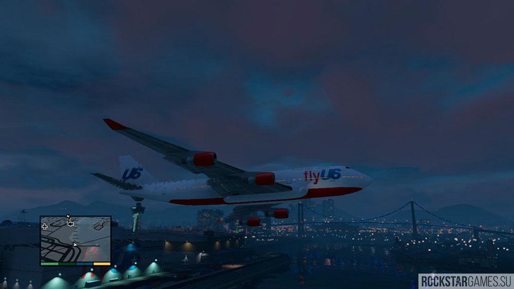 Полет на большом самолете в ГТА 5
