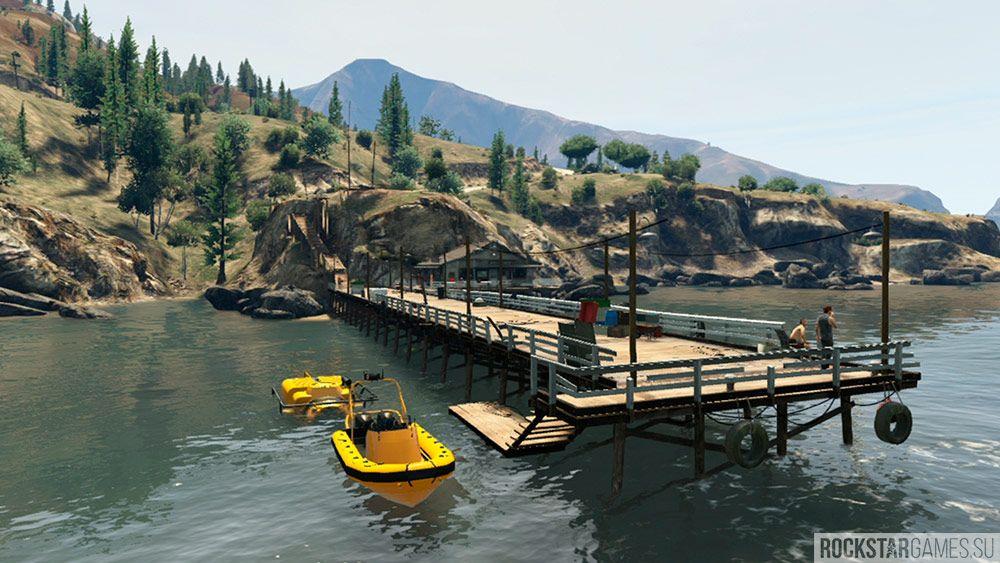 На пристани появится лодка, сев в которую Майкл получит акваланг