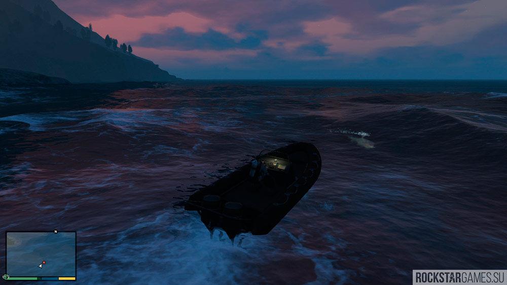 Для поиска частей подводной лодки можно воспользоваться лодкой Эбигейл