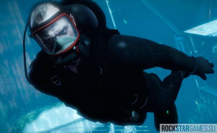 Тревор в акваланге