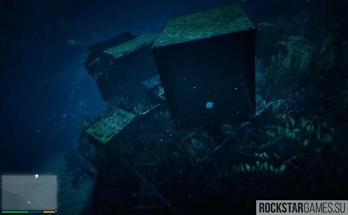 Пакеты с деньгами на дне океана в ГТА 5