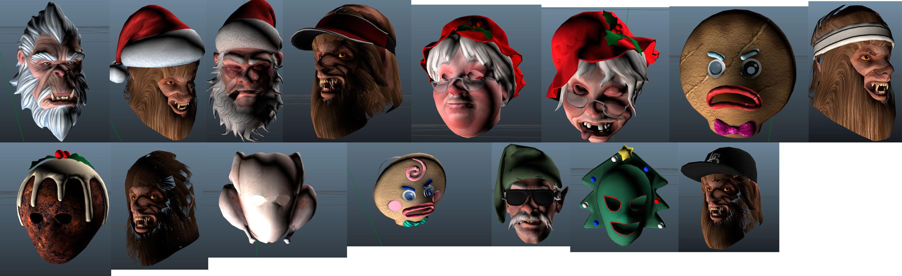 Рождественские маски для GTA