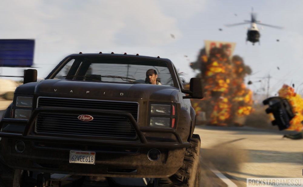 Уход от полицейского вертолета в GTA 5