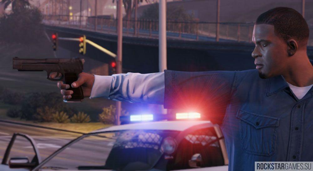 Франклин и полиция в GTA 5