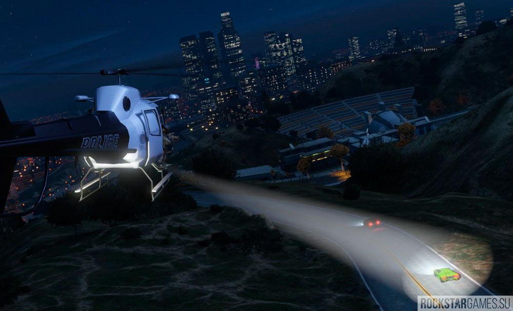 Полицейский вертолет в GTA 5