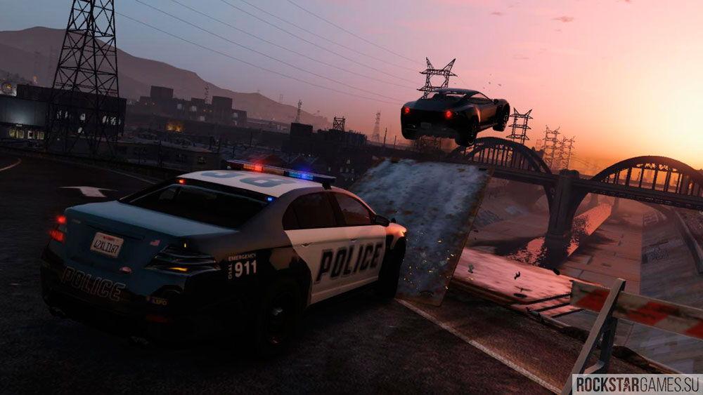 Уход от полиции в GTA 5