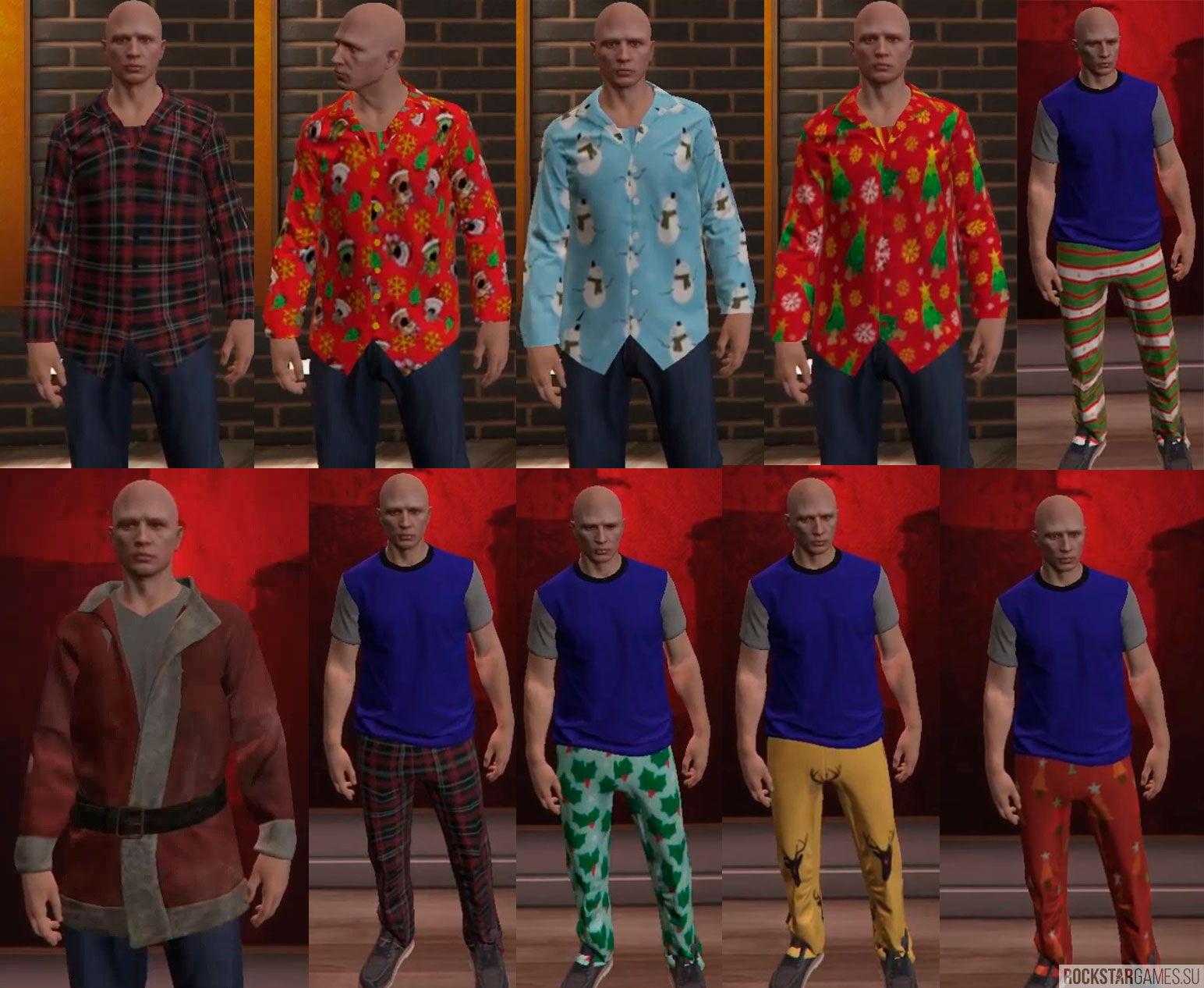 Новогодние костюмы для GTA