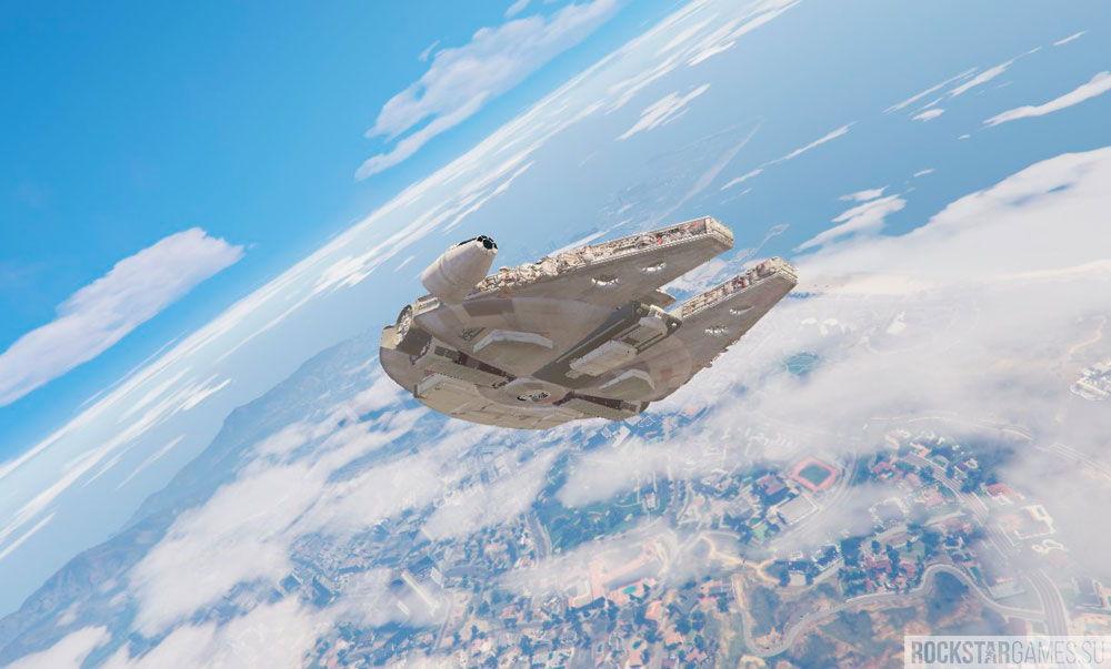 Millennium Falcon из Звездных войн в ГТА 5
