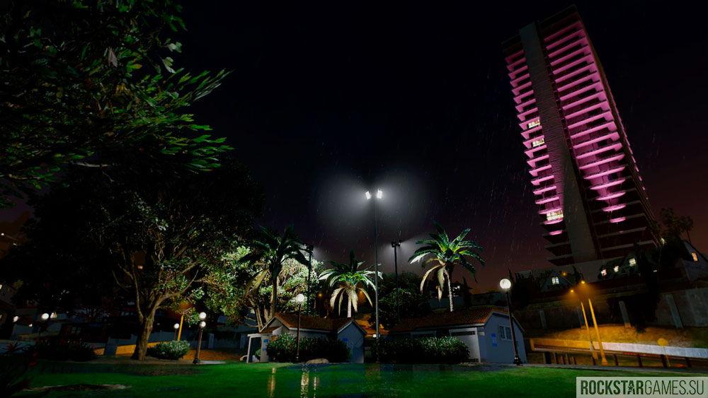 Ночной Лос-Сантос с модом The Pinnacle of V
