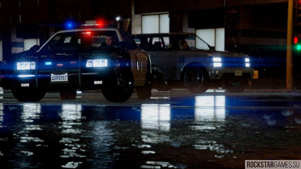 Полицейские огни в GTA 5 с модификацией The Pinnacle of V