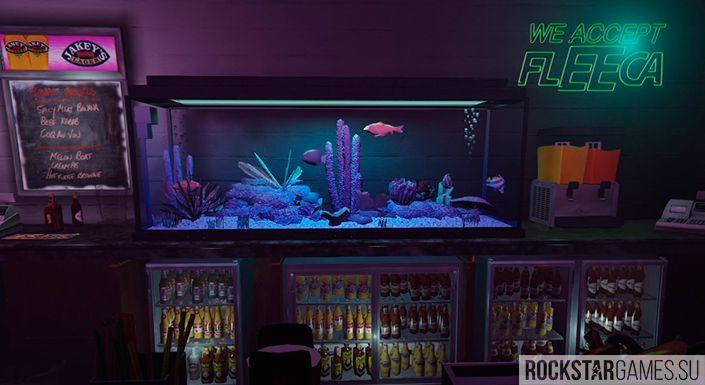 В игре есть даже аквариумы
