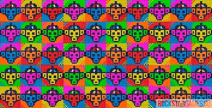 Мозаика обезьяны