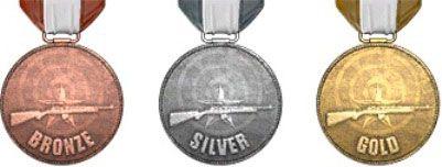 Медали испытания в тире