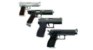 Пистолеты в тире GTA 5