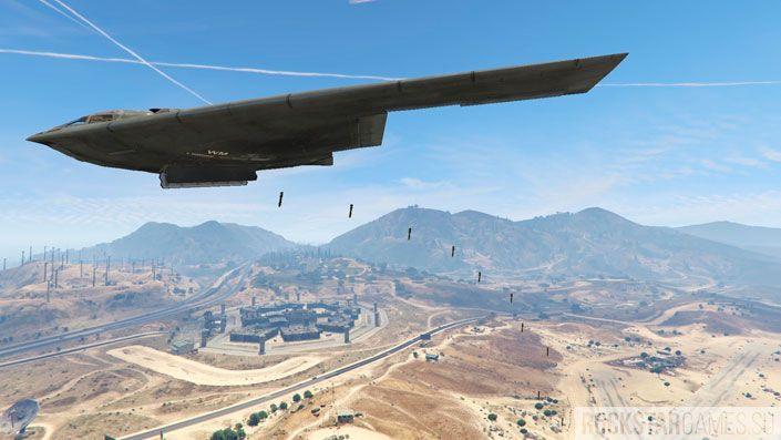 Мод B-2A Spirit Stealth Bomber для GTA 5