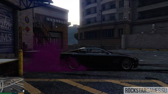 Дым из под шин в GTA 5