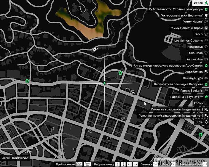 Карта с Tourbus
