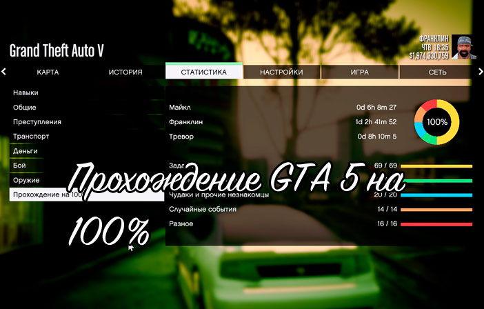 Gta 5 прохождение на 100 процентов скачать